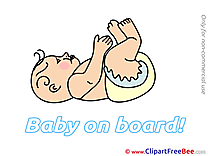 Upside Down Baby on board download Illustration