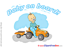 Vehicle Cliparts Baby on board for free
