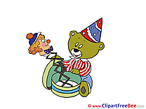 Bear Toy Pics Birthday Illustration
