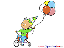 Bicycle Balloons Pics Birthday free Cliparts
