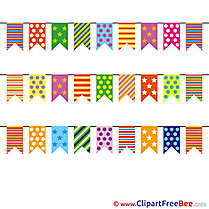 Flags Holiday Birthday download Illustration