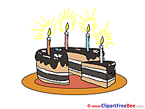 Piece of Cake free Illustration Birthday