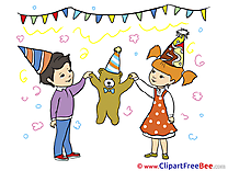 Teddy Bear Children download Birthday Illustrations