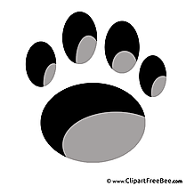 Animal Footprint free printable Cliparts and Images