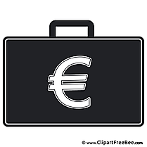 Briefcase Euro Clipart free Illustrations
