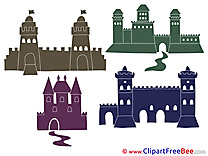 Picture Castles Clipart free Illustrations