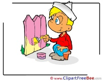 Boy Painter Clipart free Image download