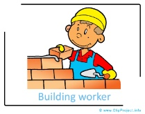 Building worker clip art