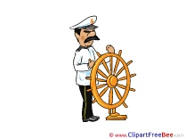 Captain Steering Wheel download Clip Art for free