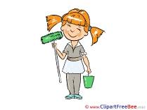Girl Painter Clipart free Illustrations