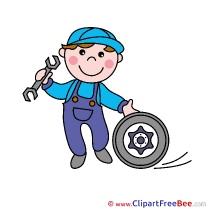 Mechanic Clipart free Illustrations