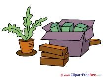 Plant Boxes Transportation free Illustration download