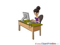 Secretary Clipart free Illustrations