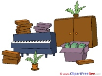 Transportation Piano Plants Cliparts printable for free