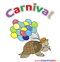 Balloons Turtle Pics Carnival Illustration