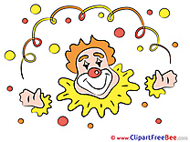 Carnival Clown Clip Art for free