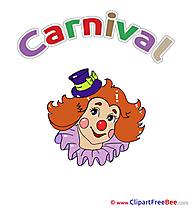 Clown Girl Carnival download Illustration