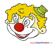 Pics Carnival Clown Illustration