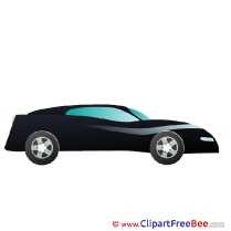 Black Sport Car printable Illustrations for free