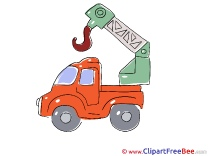 Crane Car Cliparts printable for free