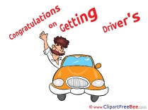 Getting Driver's License Man Clipart free Image download