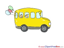 School Bus Clipart free Illustrations