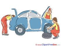 Station Service Wheel Repairs Clipart free Illustrations
