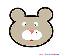 Bear Cliparts printable for free