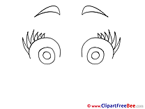Big Eyes free printable Cliparts and Images
