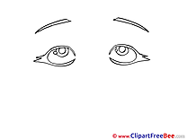 Black and White Eyes download Clip Art for free