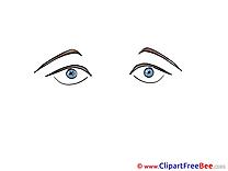 Bleu Eyes Clipart free Illustrations