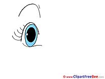 Blue Eye printable Illustrations for free
