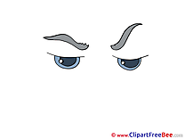 Cliparts Eyes printable for free