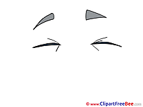 Closed Eyes Cliparts printable for free