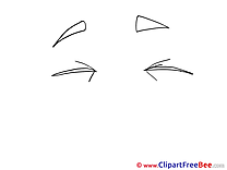 Closed Eyes Pics printable Cliparts