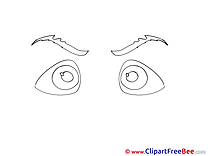 Coloring Eyes free printable Cliparts and Images
