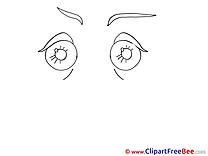 Coloring Eyes Pics free Illustration