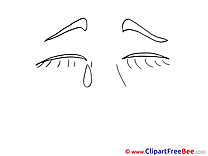 Crying printable Illustrations for free