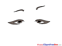 Exhausted Look Clipart free Illustrations