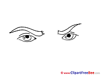 Frown Eyes Pics download Illustration