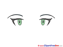 Green Eyes free Cliparts for download