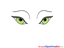 Green Eyes free printable Cliparts and Images