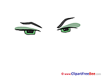 Green Eyes printable Illustrations for free