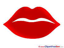Lips Woman free printable Cliparts and Images