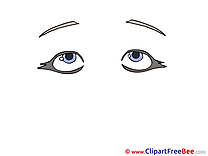 Tired Look Pics download Illustration