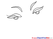 Woman Eyes Clip Art download for free