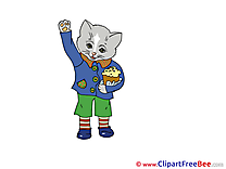 Easter Cat Clipart free Illustrations