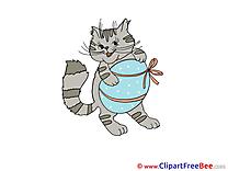 Easter Egg Cat Pics free Illustration