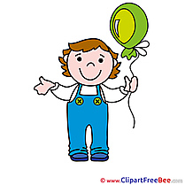 Child Boy Balloon printable Images for download