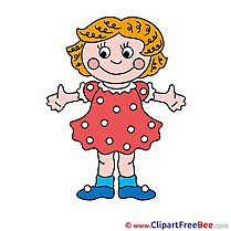 Dress Girl Clipart free Illustrations
